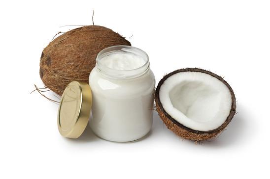 Coconut oil in glass jar