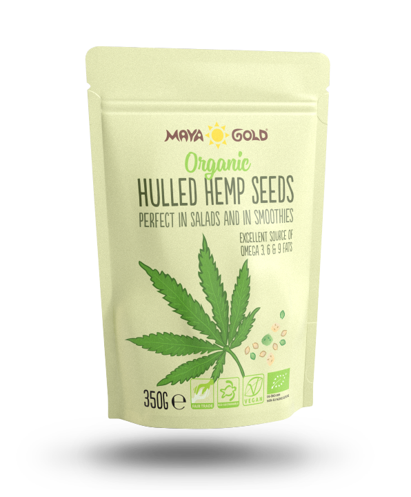 Maya Gold Hemp seed product packaging