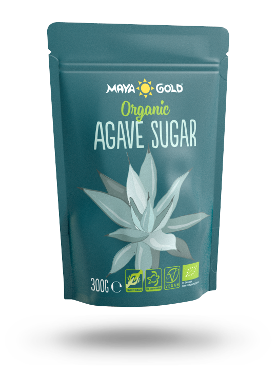 Maya Gold Agave sugar packaging