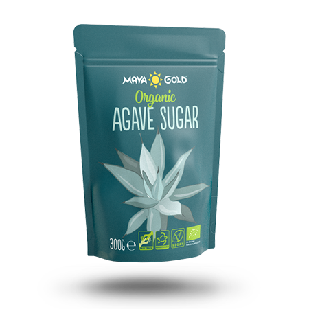 Maya gold agave sugar product packaging