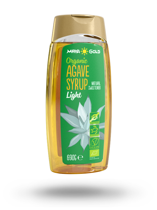 Maya Gold Agave syrup packaging