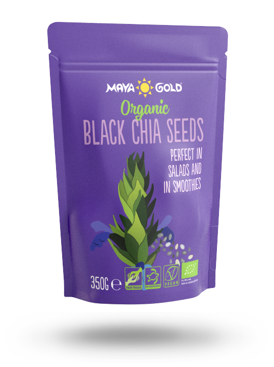 Maya Gold black chia seeds product packaging