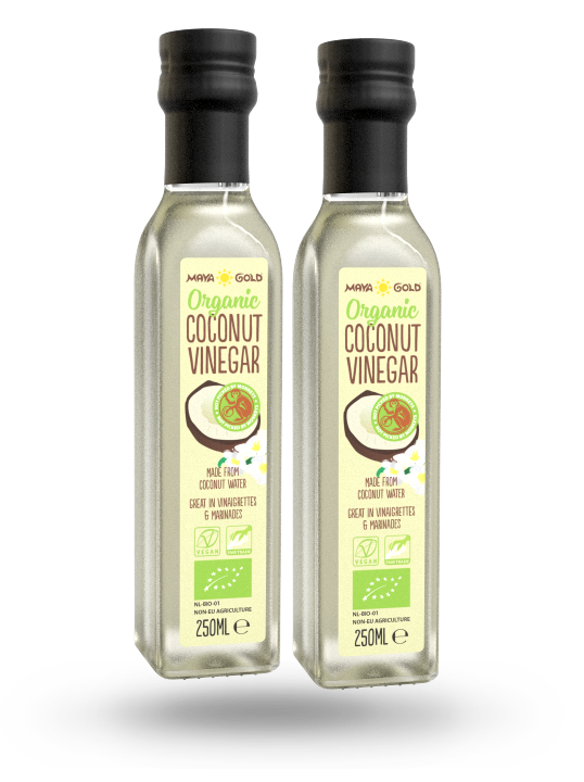 Maya Gold coconut vinegar product packaging