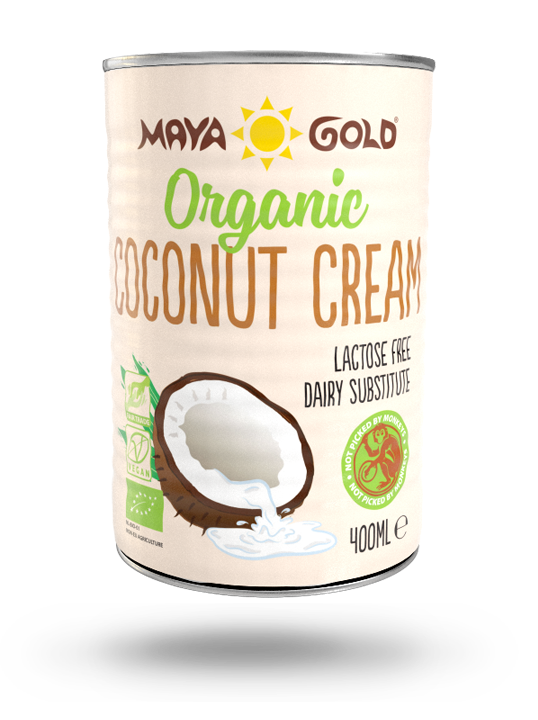 Maya Gold coconut cream product packaging