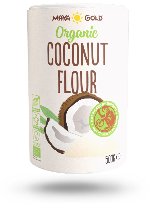 Maya Gold coconut flour product packaging