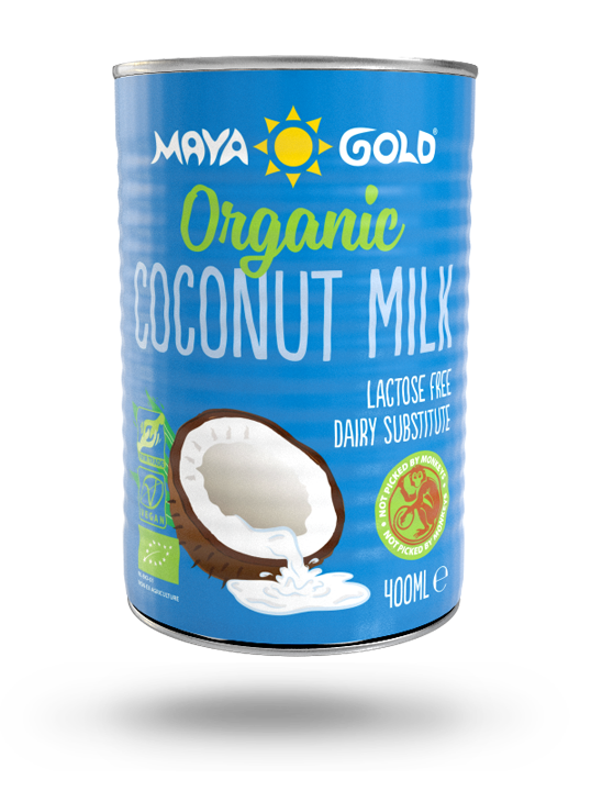 Maya Gold coconut milk product packaging
