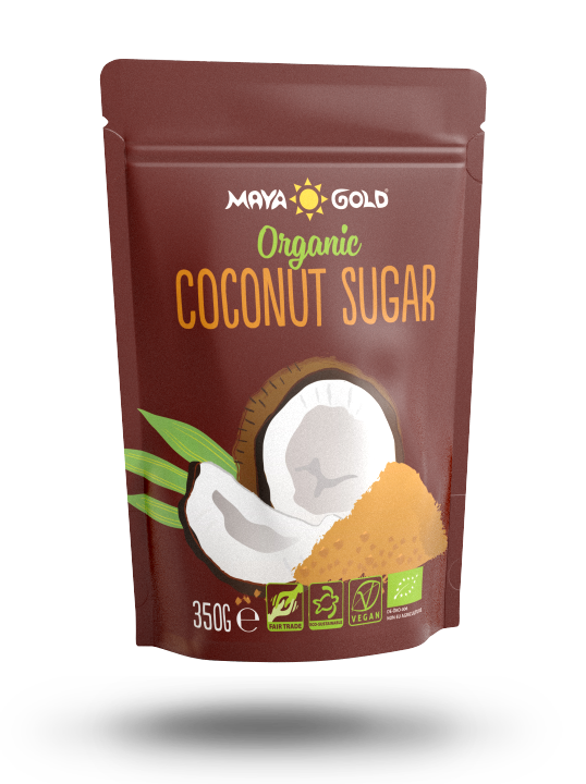Maya Gold coconut sugar product packaging