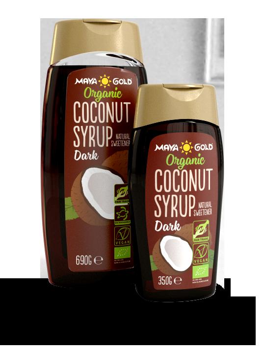 Maya Gold syrup dark product packaging