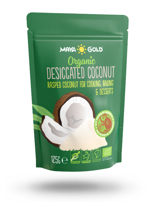 Maya Gold desiccated coconut packaging