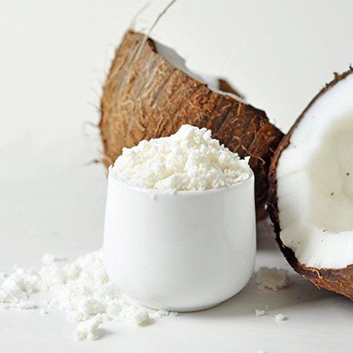 organic coconut milk powder in glass