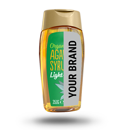 Maya gold agave syrup your branding product mockup