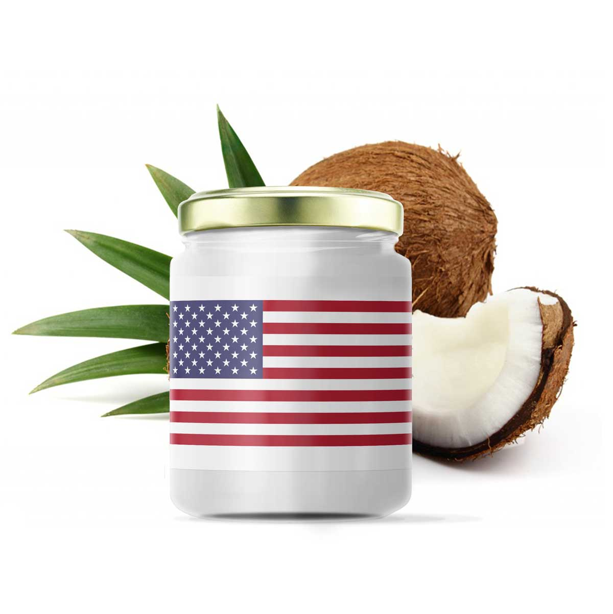 USA Coconut Products jar mockup