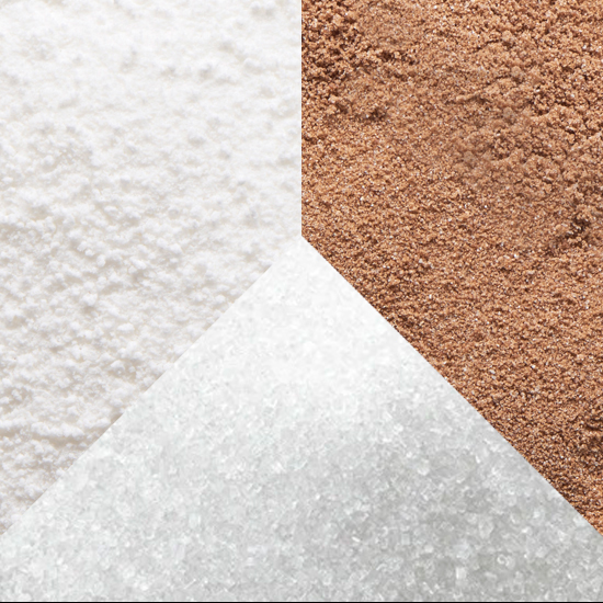 Organic powdered agave sugar, granulated agave sugar, raw agave sugar